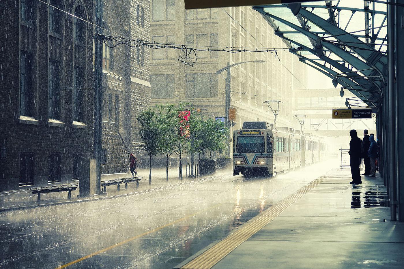 Calgary In The Rain